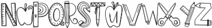 CLN-Homework Regular otf (400) Font UPPERCASE