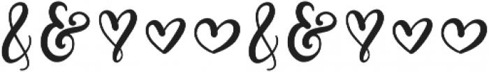 CLN-Loveogram Regular otf (400) Font OTHER CHARS