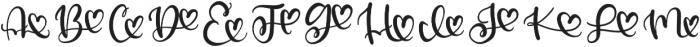CLN-Loveogram Regular otf (400) Font UPPERCASE