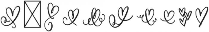 CLN-MonoHearts Regular otf (400) Font OTHER CHARS