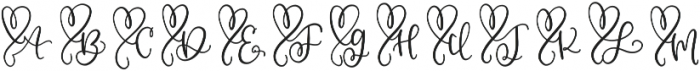 CLN-MonoHearts Regular otf (400) Font UPPERCASE