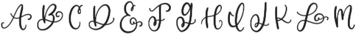 CLN-MonoHearts Regular otf (400) Font LOWERCASE