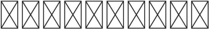 CLN-MonogramSplit Regular otf (400) Font OTHER CHARS