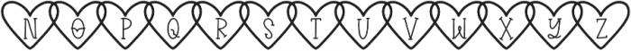 CLNKiary1 Regular otf (400) Font LOWERCASE