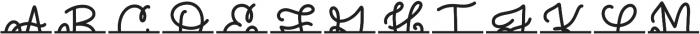 CLNSplitMono Regular otf (400) Font UPPERCASE
