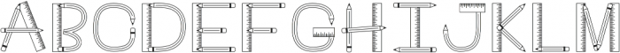 CLNTeacher Regular otf (400) Font UPPERCASE