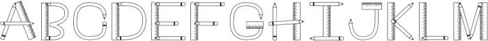 CLNTeacher Regular otf (400) Font LOWERCASE