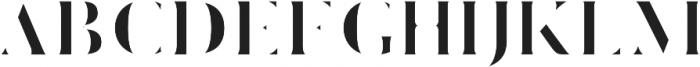 CLOAK Regular otf (400) Font UPPERCASE