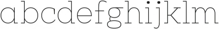Clab Hairline otf (100) Font LOWERCASE
