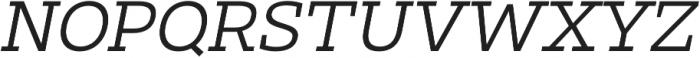 Clab Light Italic otf (300) Font UPPERCASE
