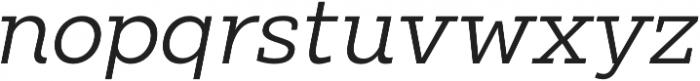 Clab Light Italic otf (300) Font LOWERCASE