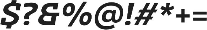 Clab Semi Bold Italic otf (600) Font OTHER CHARS