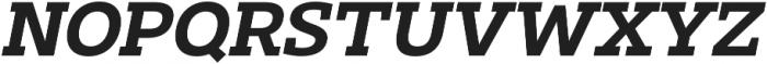 Clab Semi Bold Italic otf (600) Font UPPERCASE