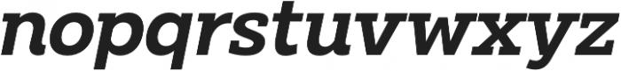 Clab Semi Bold Italic otf (600) Font LOWERCASE