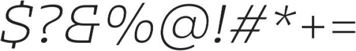 Clab Thin Italic otf (100) Font OTHER CHARS