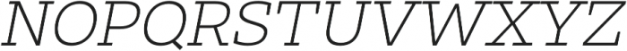 Clab Thin Italic otf (100) Font UPPERCASE