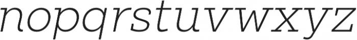 Clab Thin Italic otf (100) Font LOWERCASE