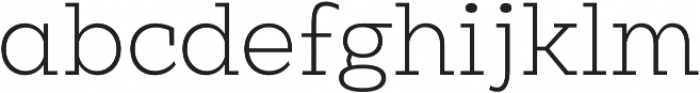 Clab Thin otf (100) Font LOWERCASE