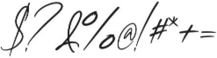 Clairine Signature otf (400) Font OTHER CHARS