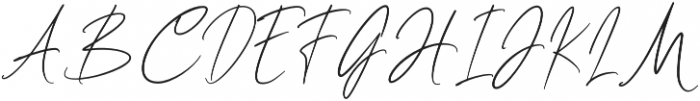 Clairine Signature otf (400) Font UPPERCASE