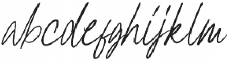 Clairine Signature otf (400) Font LOWERCASE