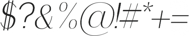 Clap Light-italic otf (300) Font OTHER CHARS
