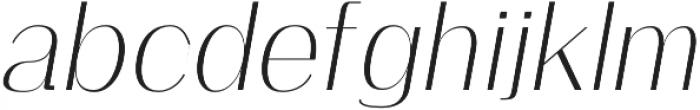 Clap Light-italic otf (300) Font LOWERCASE