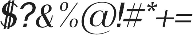 Clap Semi bold italic otf (600) Font OTHER CHARS