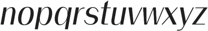 Clap Semi bold italic otf (600) Font LOWERCASE