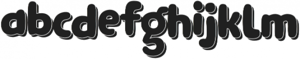 Clarence Cyrillic wt shadow otf (400) Font LOWERCASE
