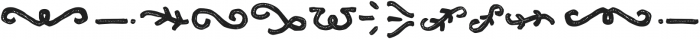 Clarence Two Ornament otf (400) Font LOWERCASE
