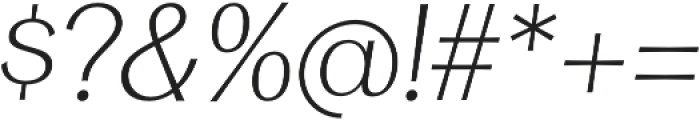 Clasica Sans Light It otf (300) Font OTHER CHARS
