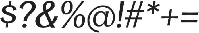Clasica Sans Regular It otf (400) Font OTHER CHARS