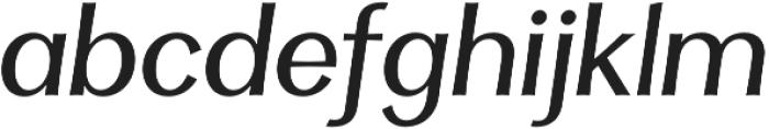 Clasica Sans Regular It otf (400) Font LOWERCASE