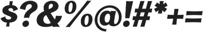 Clasica Sans UltraBlack It otf (900) Font OTHER CHARS