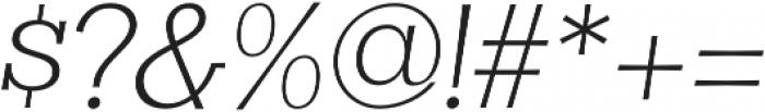 Clasica Slab Light Italic otf (300) Font OTHER CHARS