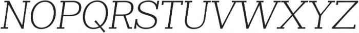 Clasica Slab Light Italic otf (300) Font UPPERCASE