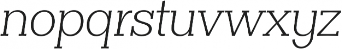 Clasica Slab Light Italic otf (300) Font LOWERCASE