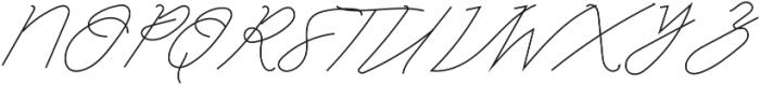 Classic Signature Italic otf (400) Font UPPERCASE