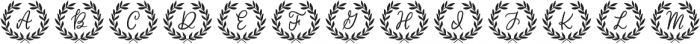 Classic Wreath Monograms otf (400) Font UPPERCASE