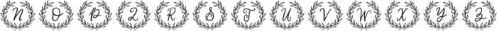 Classic Wreath Monograms otf (400) Font LOWERCASE