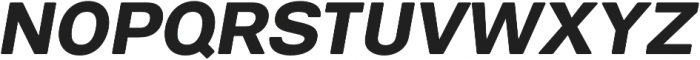 ClassicSansRounded Black Italic otf (900) Font UPPERCASE