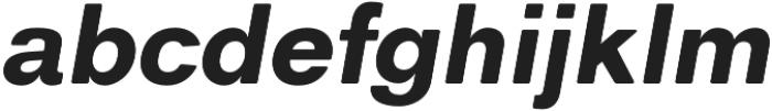 ClassicSansRounded Black Italic otf (900) Font LOWERCASE
