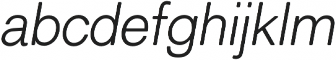 ClassicSansRounded Light Italic otf (300) Font LOWERCASE