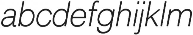 ClassicSansRounded XLight Italic otf (300) Font LOWERCASE