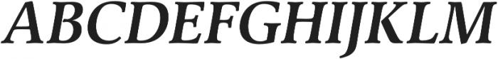 Classica Pro Demi Italic otf (400) Font UPPERCASE