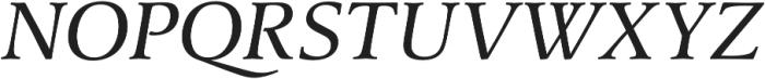 Classica Pro Italic otf (400) Font UPPERCASE