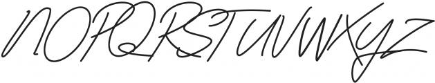 Classy Beautiful One Regular otf (400) Font UPPERCASE