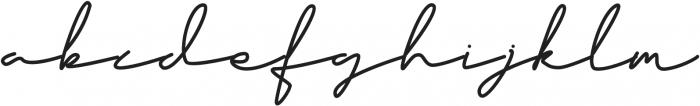 Classy Beautiful One Regular otf (400) Font LOWERCASE