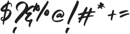 Clattering Regular otf (400) Font OTHER CHARS
